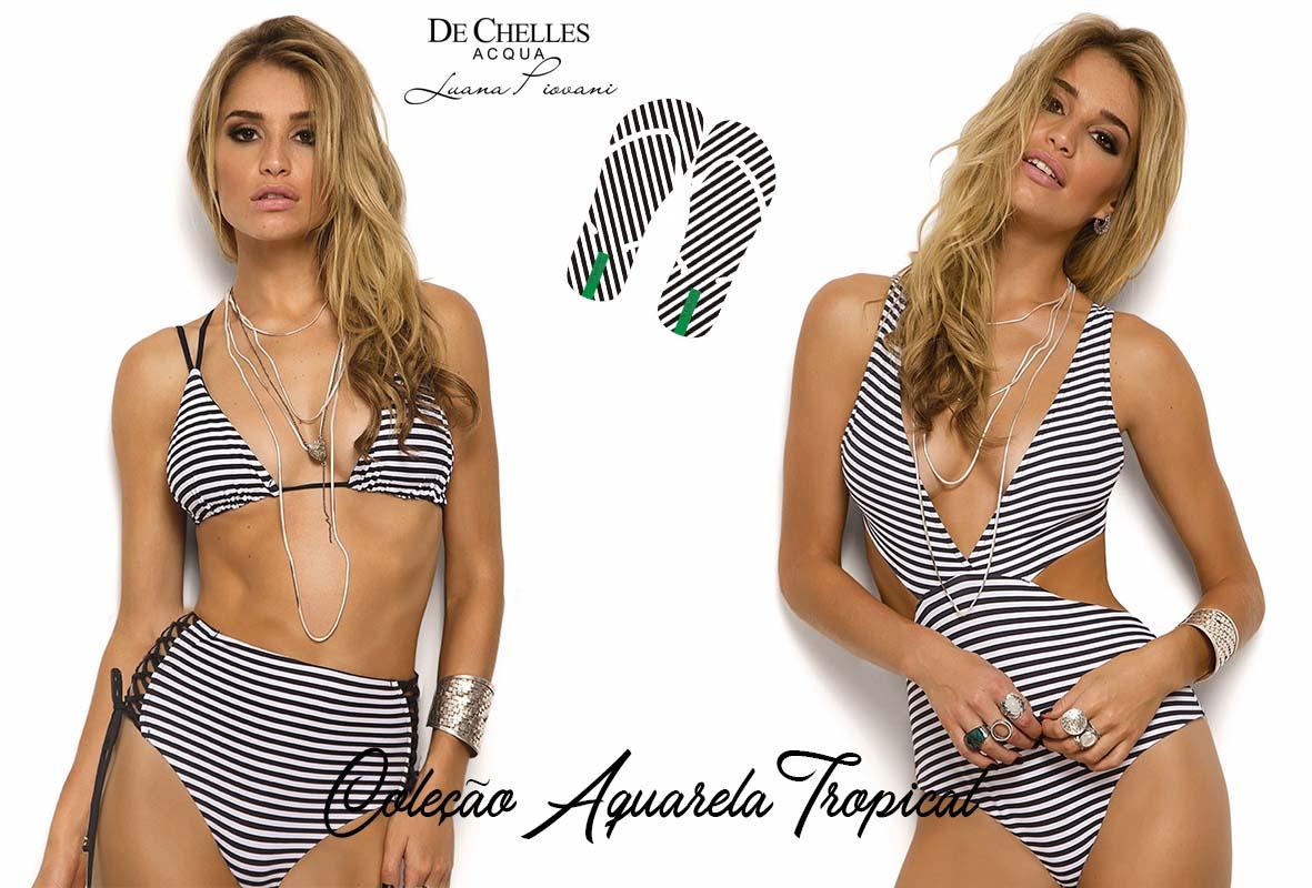 De Chelles Moda Praia - Coleção Aquarela Tropical 2